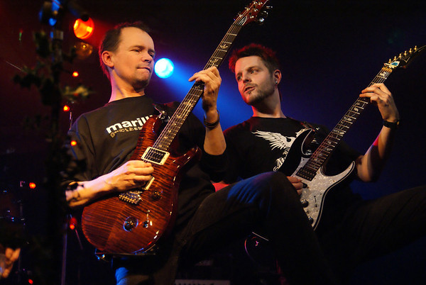 Pete Harwood and Damien Sweeting of Morpheus Rising at The Robin 2 in Bilston, 4-Dec-2011