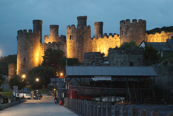 Conwy Castly at twilight.