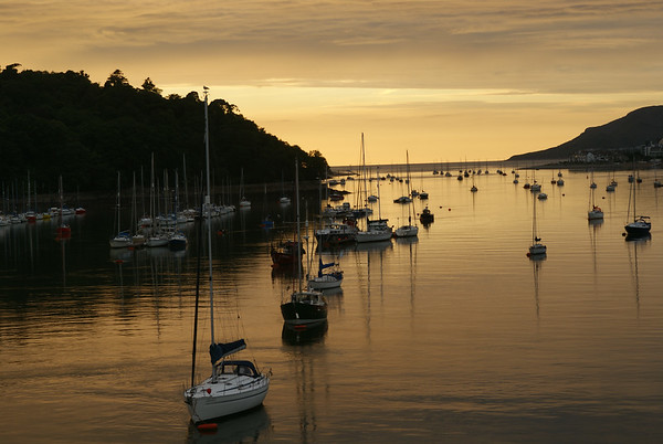Conwy harbour at dusk