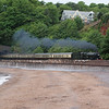 "GWR No 6024 ""King Edward 1"" with a full rake of chocolate and cream coaches at Coryton Cove, Dawlish."