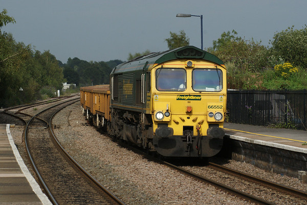 Freightliner's 66442 head a southbound ballast trough Lydney.