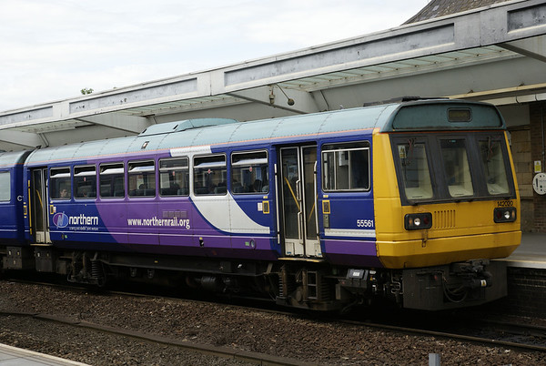 Northern Rail's 142020 at Middlesborough. These things, bane of Northern England's commuters have long since exceeded their original 20-year design lives, but there is no replacement for them in sight.