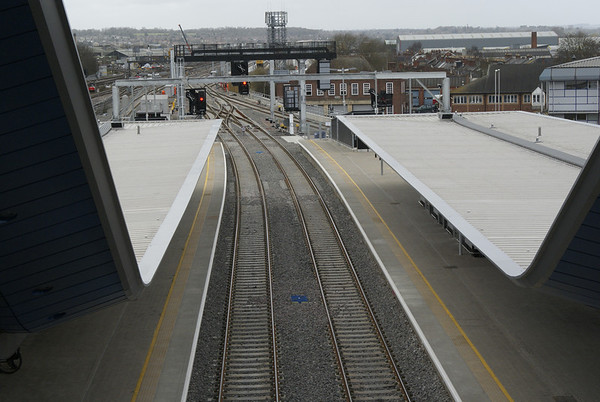 Platforms 13 and 14. These are completely new and now form the new slow lines.