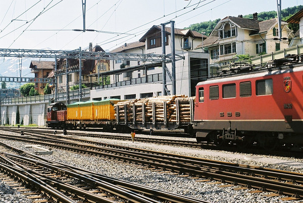 SBB Em3/3 and Ae6/6 at Spiez