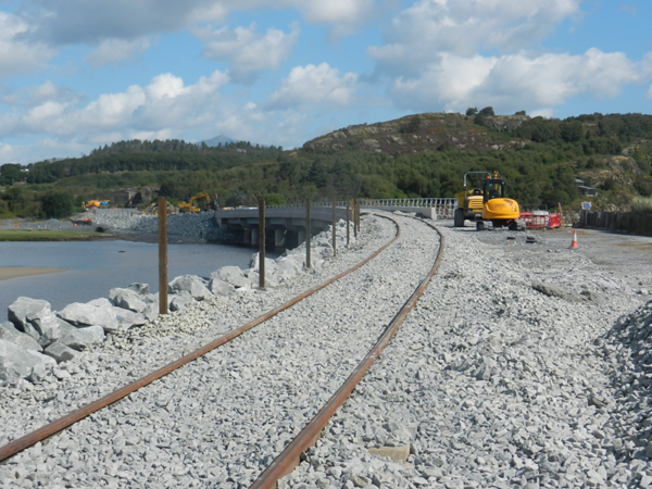The new bridge at Pont Briwet (photo from Network Rail)