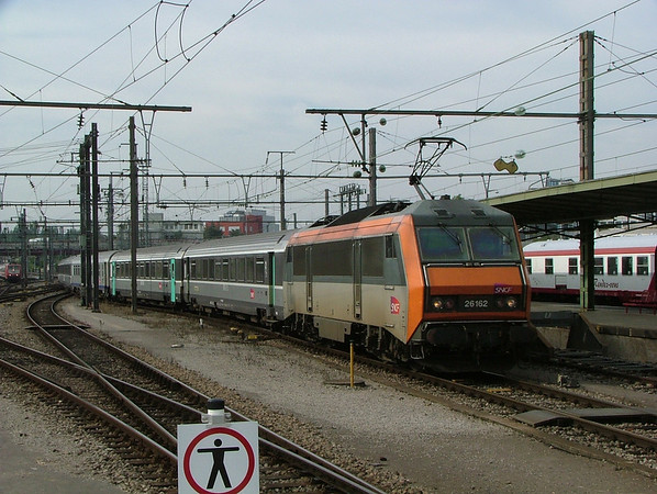 "SNCF ""Sybic"" on a Basel-Brussels international working at Luxembourg"