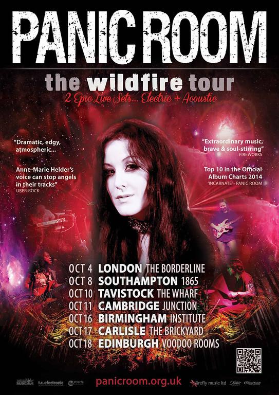 Panic Room Autumn 2015 Tour Flyer